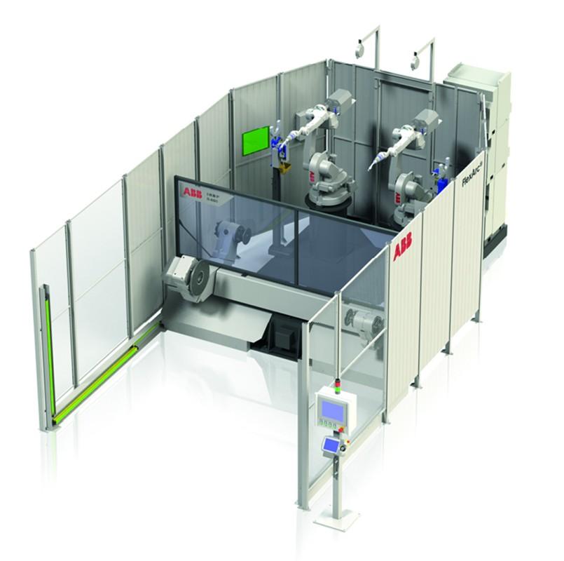 ABB předvede bezpečnostní systém SafeMove 2 umožňující spolupráci robota s člověkem a kombinovanou buňku s ukázkou dálkového laserového svařování.